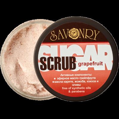 Сахарный скраб для тела GRAPEFRUIT (с эфирным маслом грейпфрута), 300 г
