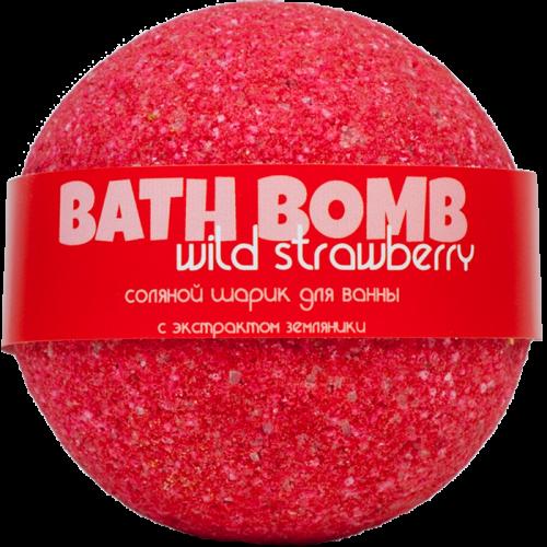 Шарик для ванн WILD STRAWBERRY (с экстрактом земляники)