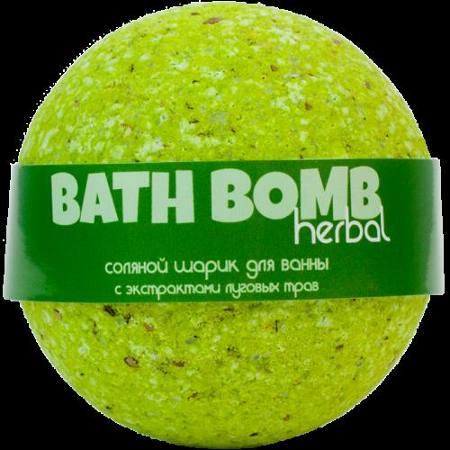 Шарик для ванн HERBAL (с экстрактами луговых трав)