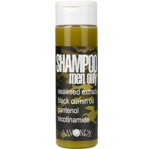 Мужской шампунь MEN ONLY camouflage (с экстрактом морских водорослей и маслом черного тмина), 200 мл