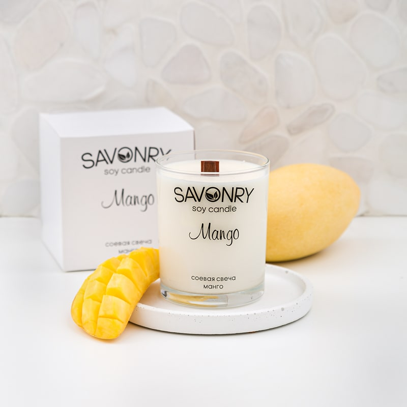 Ароматическая соевая свеча МАНГО, 200мл