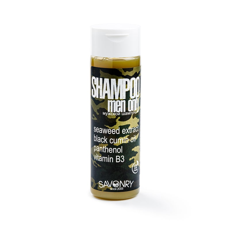 Шампунь MEN ONLY Camouflage (морские водоросли и черный тмин), 200мл