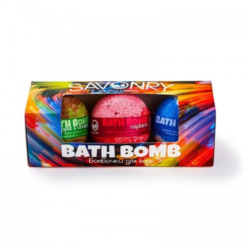 BATH BOMB (набор бурлящих шариков), 3шт