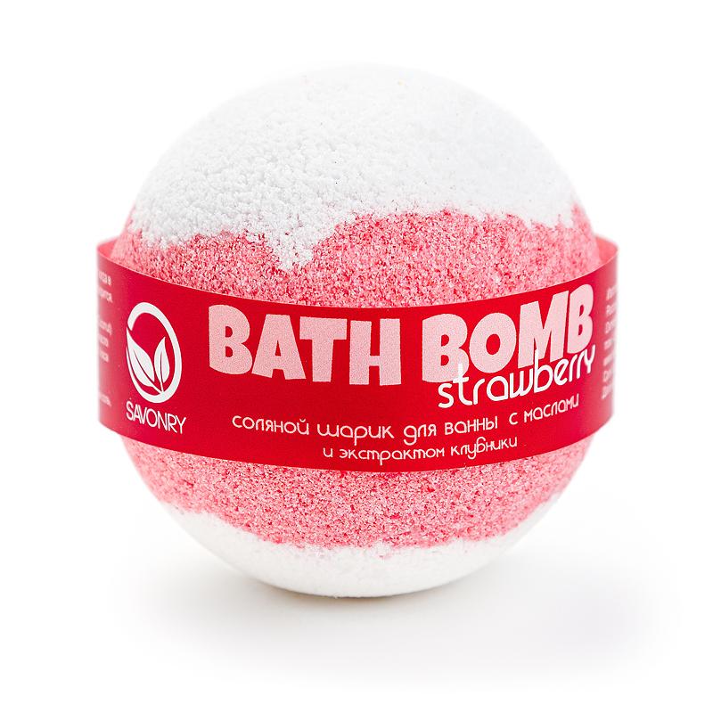 Шарик для ванн STRAWBERRY (с маслами и экстрактом клубники), 145г