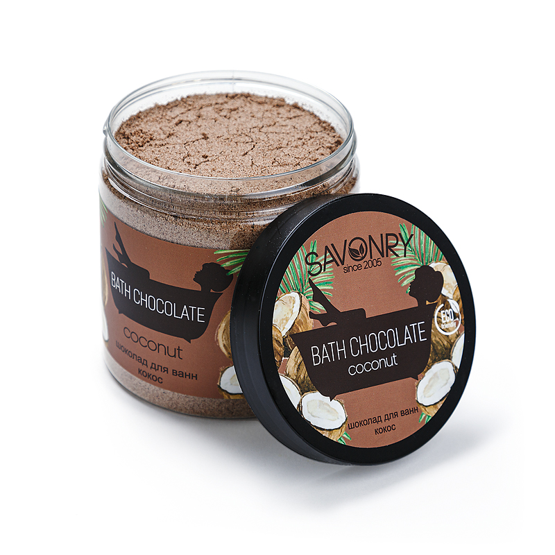 Сухой шоколад для ванн (500мл) Coconut (кокос)
