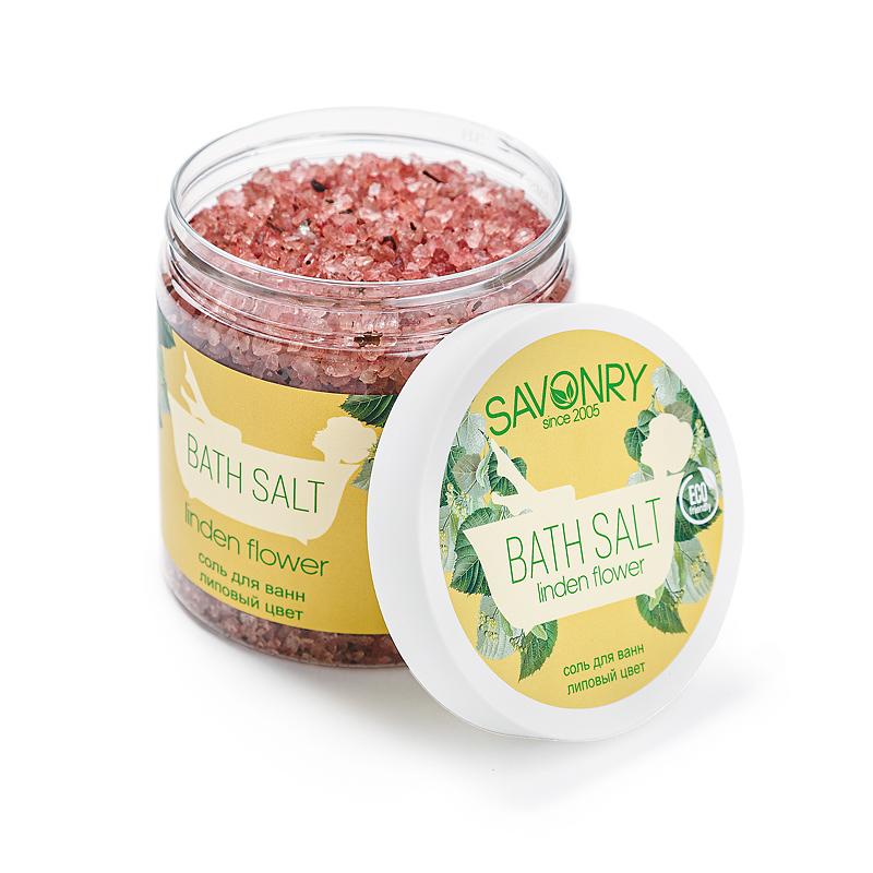 Соль для ванны (600гр) банка Linden flower (липа)