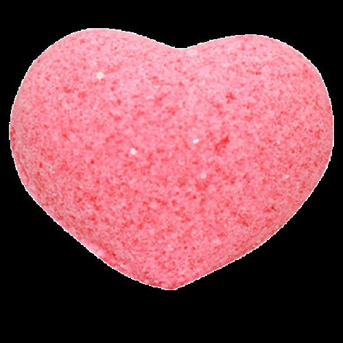 Бурлящее сердечко для ванн РОЗОВОЕ (С МАСЛАМИ), 50 г