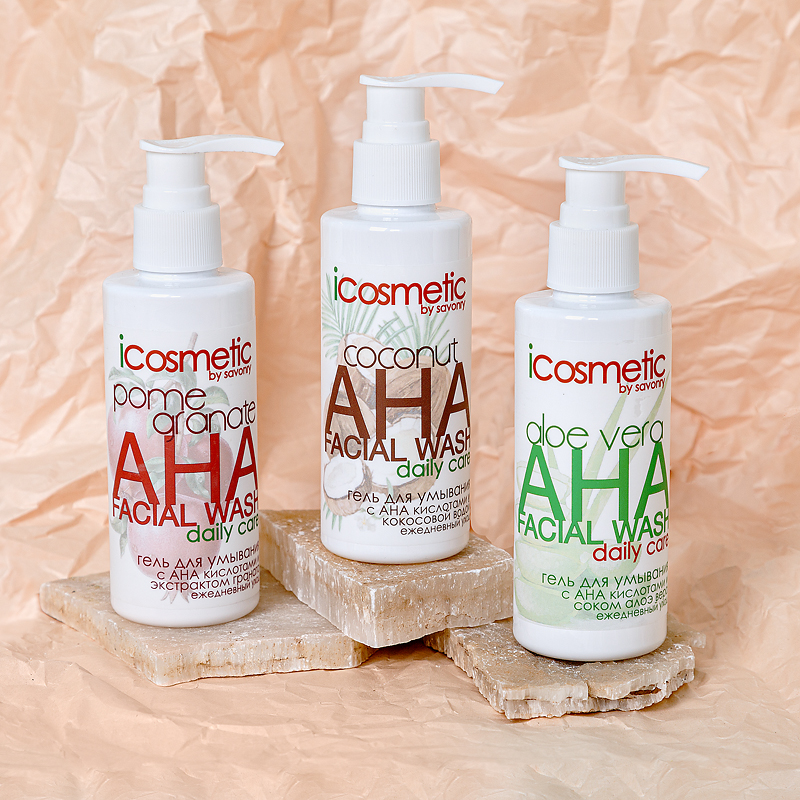 Гель для умывания с AHA-кислотами и кокосовой водой, 150мл