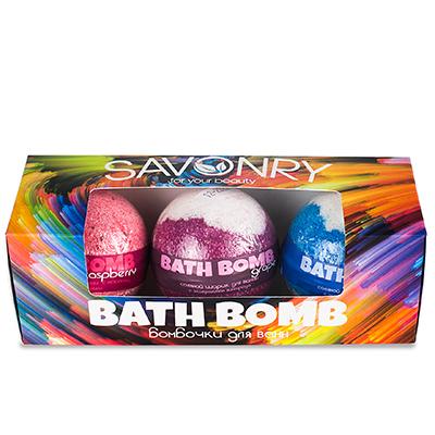 BATH BOMB (набор бурлящих шариков), 3 шт