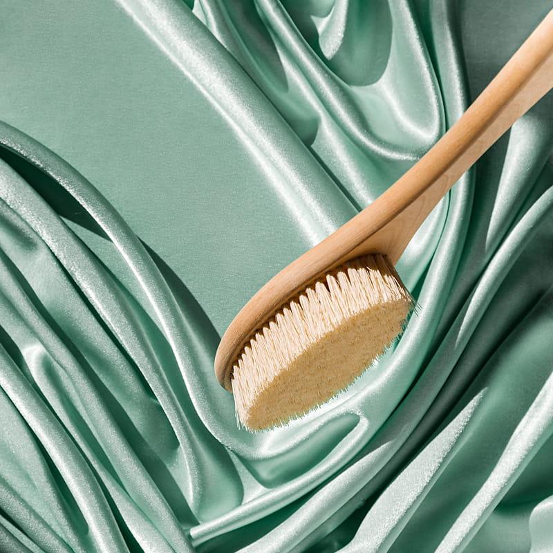 Щетка для сухого массажа (натуральная щетина, 380 мм)